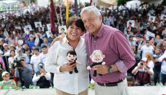 Delfina Gomez con Andres Manuel Lopez Obrador