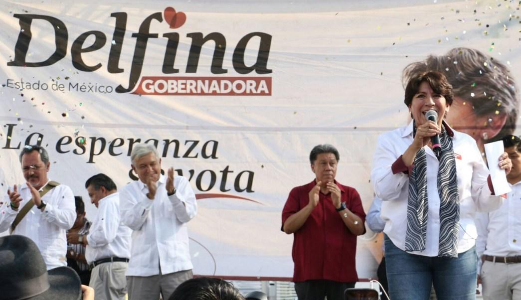 Delfina Gómez en el Estado de México