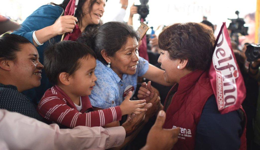 Delfina Gómez tuvo asambleas en Metepec y Toluca