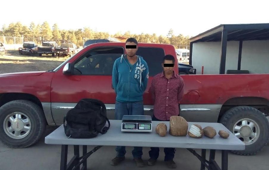 Detenidos con heroína en Chihuahua. (Noticieros Televisa )