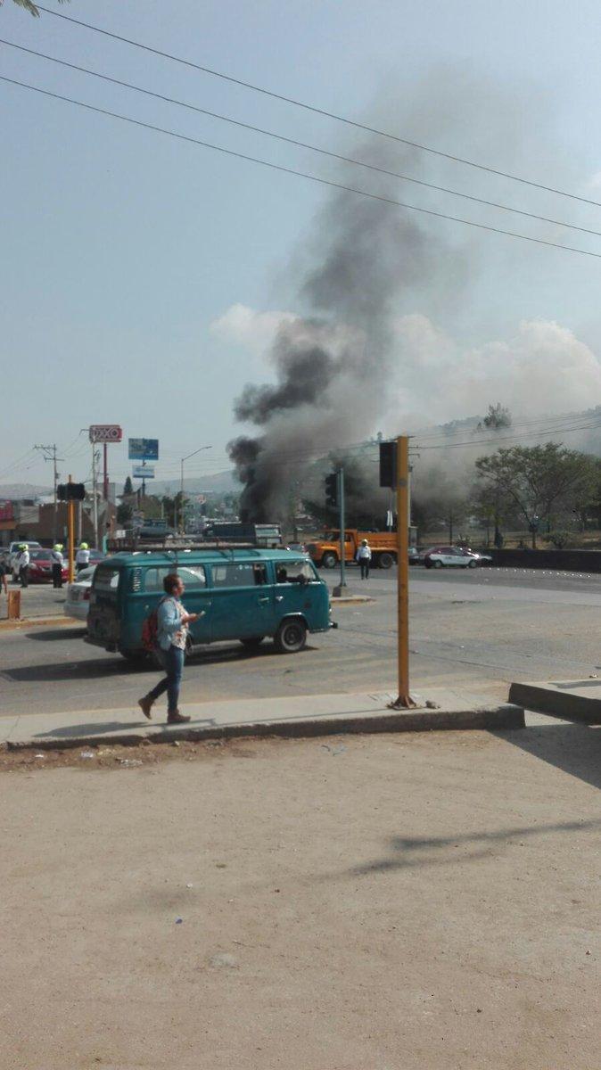 Disturbios de transportistas en Oaxaca