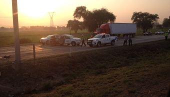 Doble accidente en la México-Querétaro deja cuatro muertos