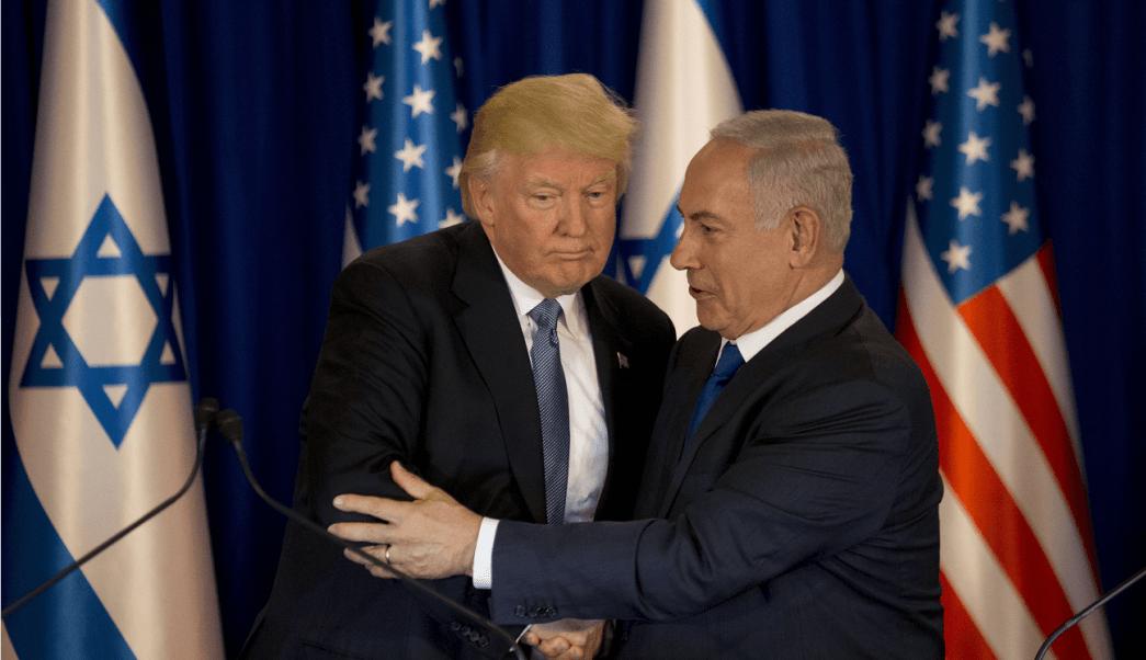 Donald Trump, presidente de Estados Unidos, y el primer ministro de Israel, Benjamin Netanyahu, en Jerusalén