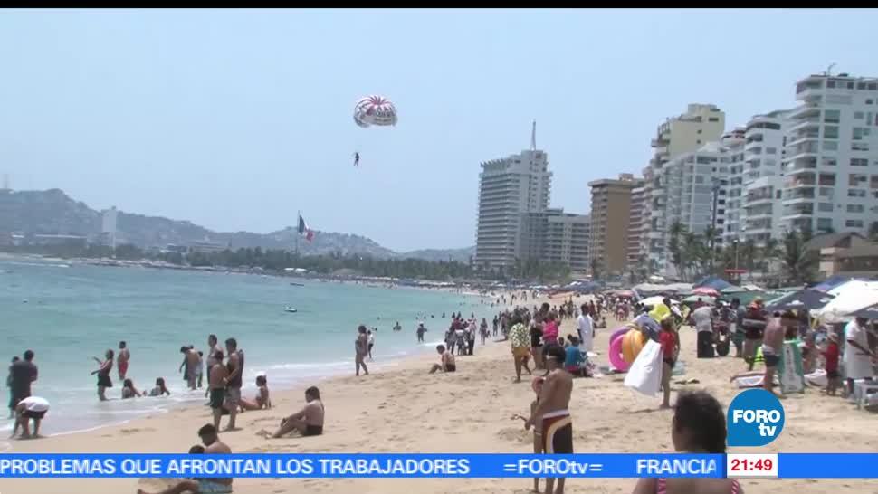 calor, atrae, turistas, Acapulco, playas, costas