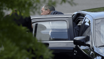 Canciller de Rusia Serguei Lavrov en la Casa Blanca
