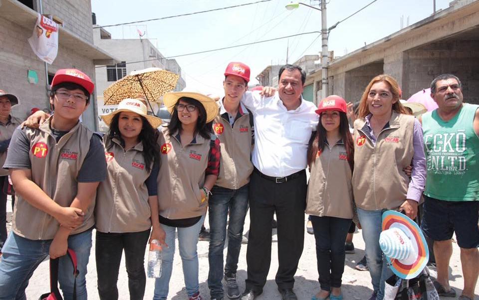 El candidato del PT a la Gubernatura del Edomex visitó Ecatepec