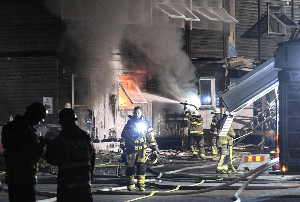 Incendio en albergue para refugiados en Suecia