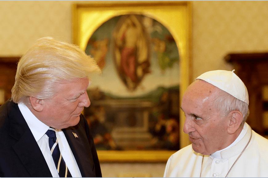 El presidente de EU, Donald Trump, y el papa Francisco, en el Vaticano