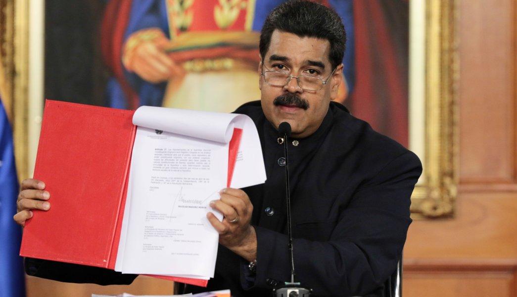 Venezuela, Nicolás Maduro, Asamblea Constituyente, decreto, firma, crisis,