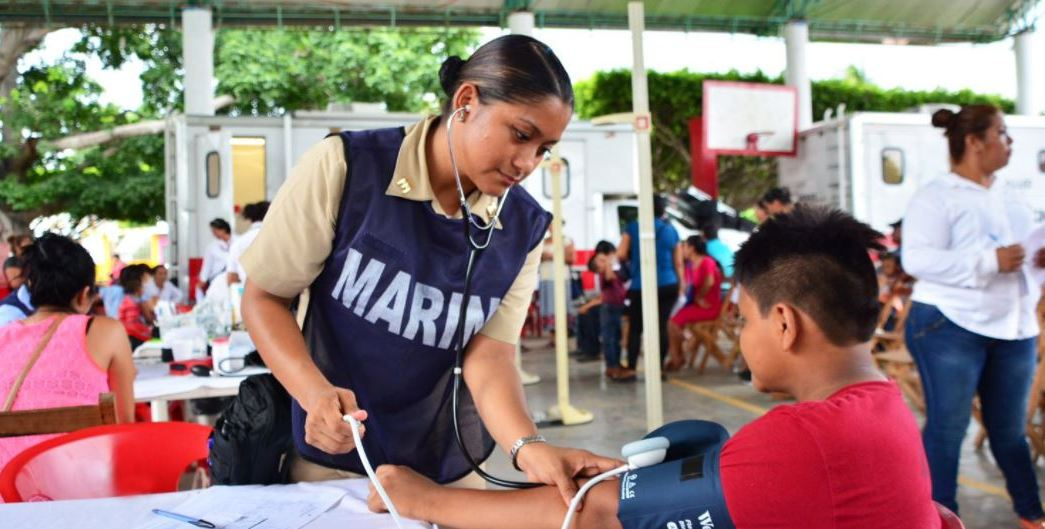 Elementos de la Marina realizan la Jornada Social Itinerante en Chiapas