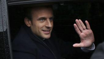 El candidato presidencial centrista francés Emmanuel Macron. (AP)