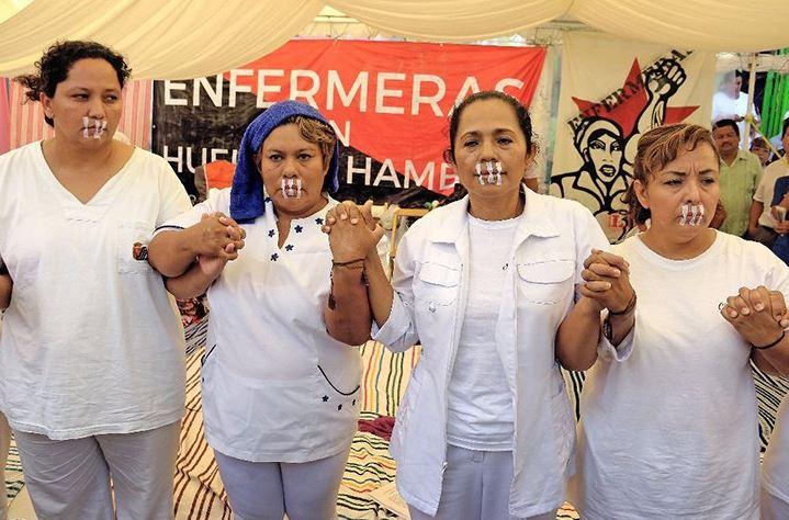 Enfermeras, Huelga, Hambre, Chiapas, Noticias, Tuxtla