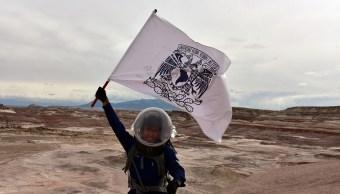 Estudiante de la UNAM participa en simulacro a Marte