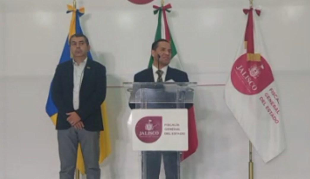 Conferencia del fiscal de Jalisco, Eduardo Almaguer. (@FiscaliaJal)