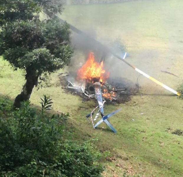 Accidente, helicoptero, xalapa, veracruz, piloto, tripulantes
