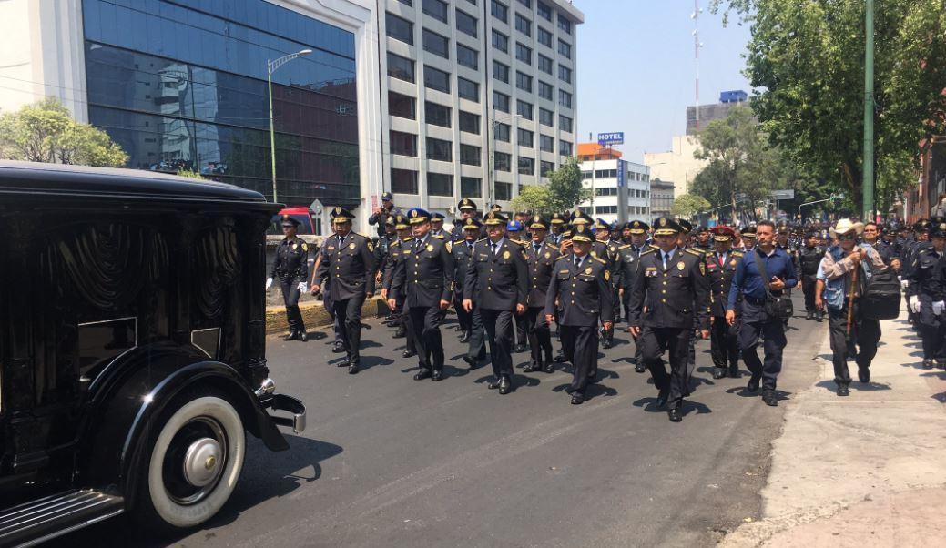El cortejo fúnebre partió de la colonia Juárez (Twitter @hiramalmeidae)