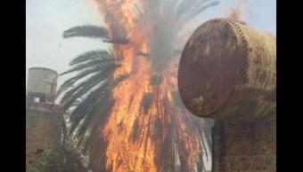 Incendio, lote baldio, jalisco, tlaquepaque, sale de control, llamas