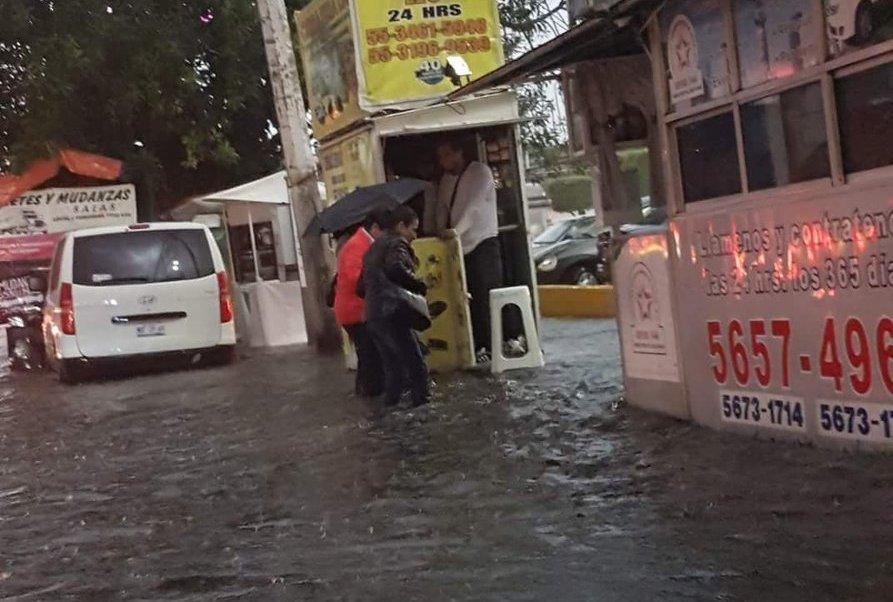 Inundaciones del lunes en Acoxpa y Miramontes