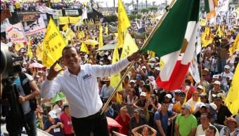 Juan Zepeda, candidato del PRD, estuvo de gira por Nezahualcóyotl