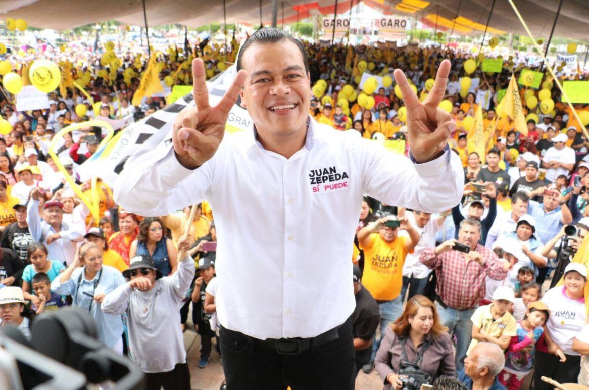 Serenos morenos, responde Juan Zepeda a AMLO
