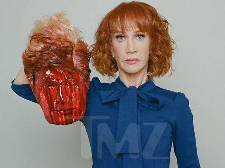 Comediante, cabeza, sangre, Trump, fotografías, Twitter,
