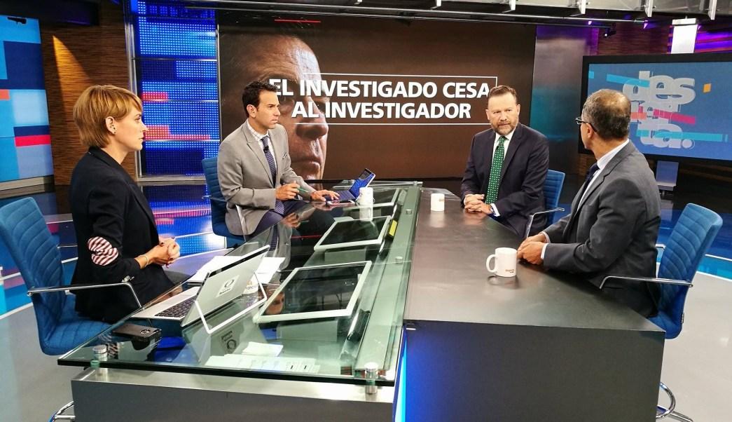 Leo Zuckermann y Rafael Fernández de Castro en la mesa de Despierta con Loret. (Twitter, @NTelevisa_com)