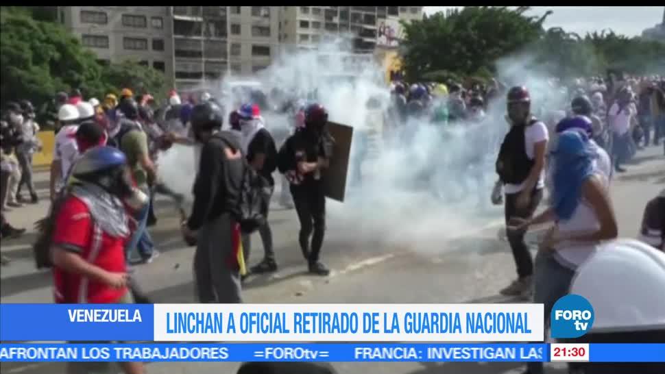 Linchan, oficial retirado, Guardia Nacional, Venezuela, manifetaciones, protestas
