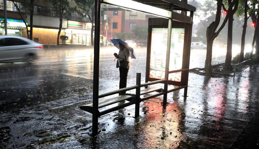 lluvias en varios puntos de la ciudad de mexico