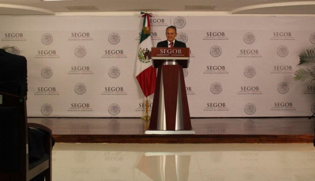 Luis Felipe Puente, titular de Protección Civil, anuncia que México será sede de la Plataforma Global para la Reducción del Riesgos de Desastres. (Twitter: Twitter: @LUISFELIPE_P)