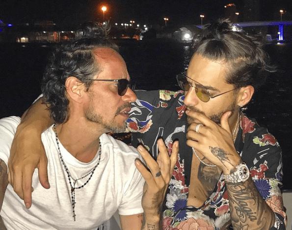 Marc Anthony, Maluma, beso, Auditorio Nacional, viral