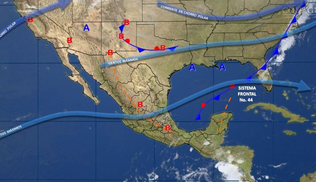 Mapa con el pronóstico del clima para este 2 de mayo