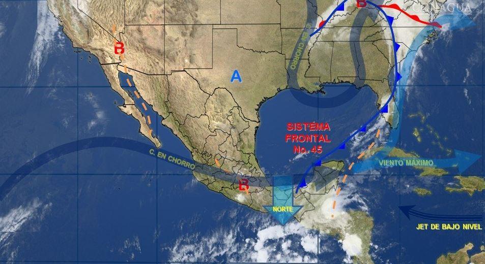 mapa con el clima para este 5 de mayo
