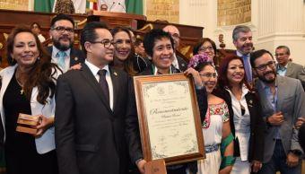 Asamblea Legislativa, Ciudad de México, medalla, Mérito, Artes, panteón rococo, maldita vecindad,