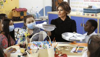 Melania Trump visitó el hospital pediátrico Bambino Gesù, en Roma