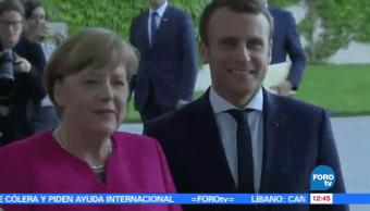 canciller alemana, Angela merkel, recomendación, gobierno de Macron, empleos