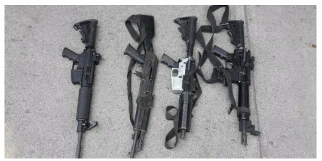 Detienen a cuatro con armas largas en Aguililla, Michoacán
