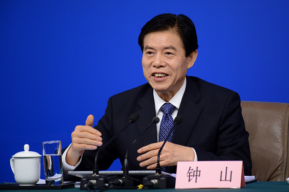 Zhong Shan, ministro de Comercio de China, habló de comercio internacional