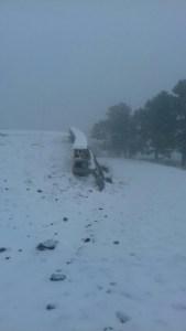 Cananea y Arizpe son sorprendidas por una nevada