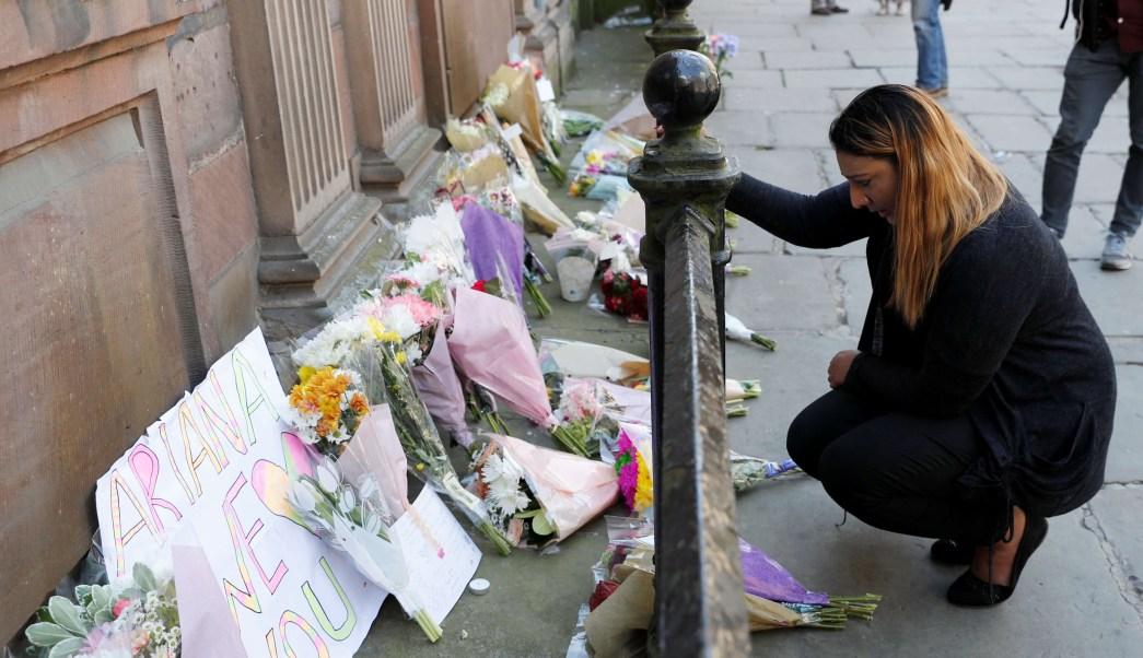 Ofrenda en memoria de las víctimas del atentado en Manchester