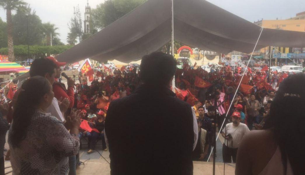 Óscar González, candidato del Partido del Trabajo en el Edomex
