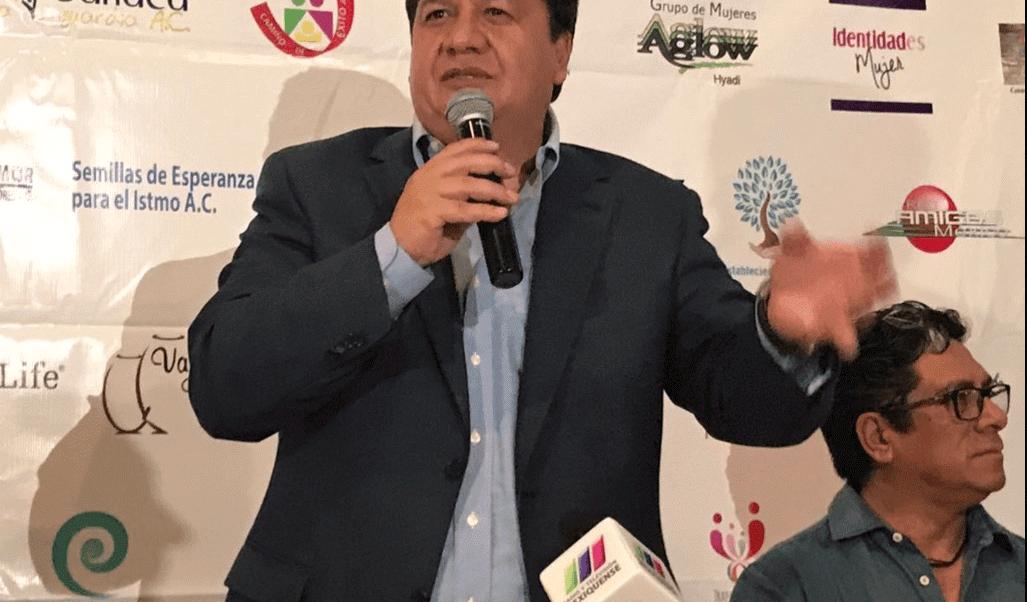 Óscar González, candidato del Partido del Trabajo al Estado de México,