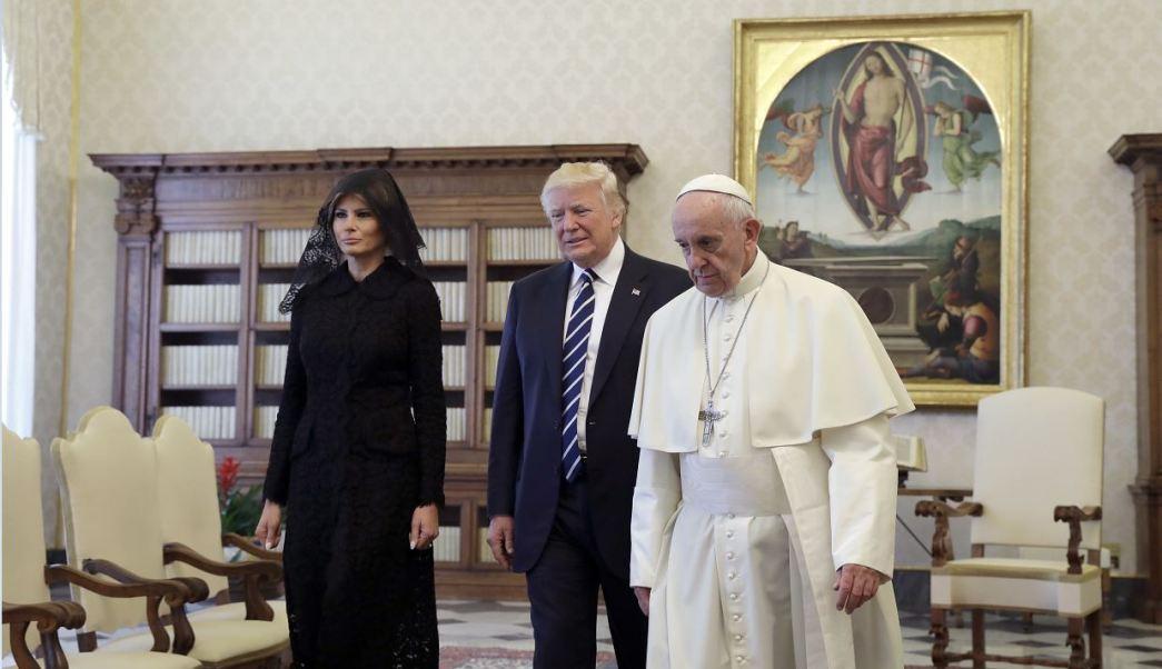 Donald Trump, primera dama de EU, Melania Trump, papa Francisco, Vaticano