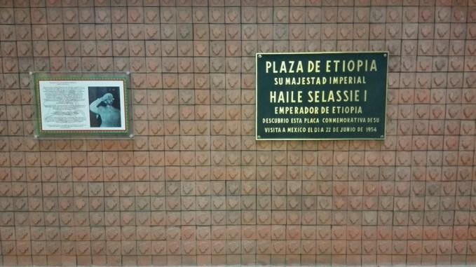 Metro, Etiopía, Estación, placa, Hailei Selassie