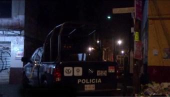 Policias vigilan calles de la colonia Cuchilla Pantitlán