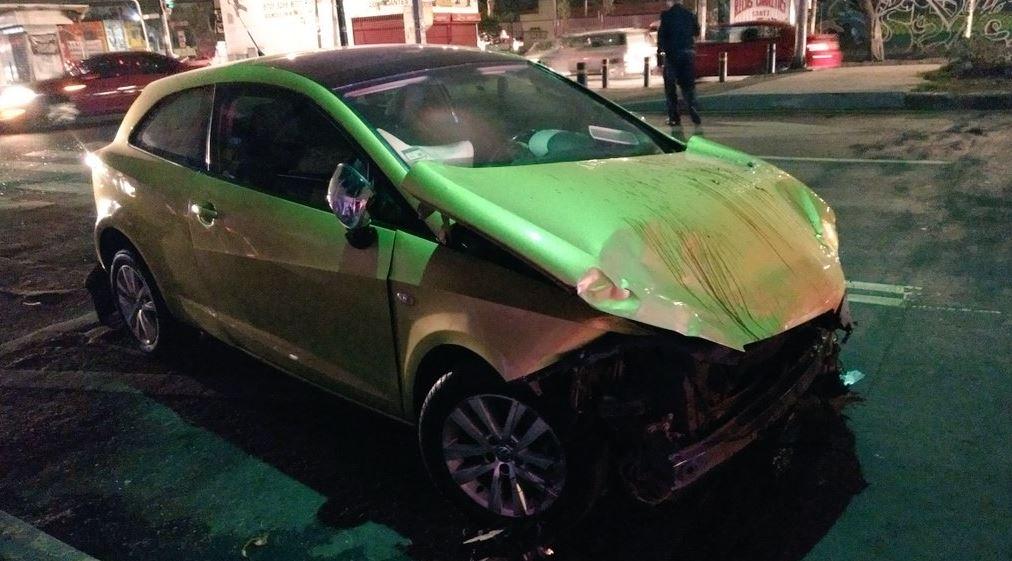 El choque se registró en la esquina de Francisco Morazan y la calle 75, en la colonia Puebla (Twitter @retioDF)