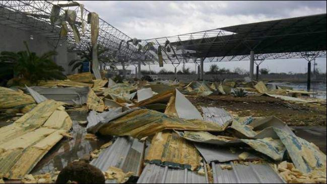 Instalaciones del Puente Internacional 3 devastadas por tormenta