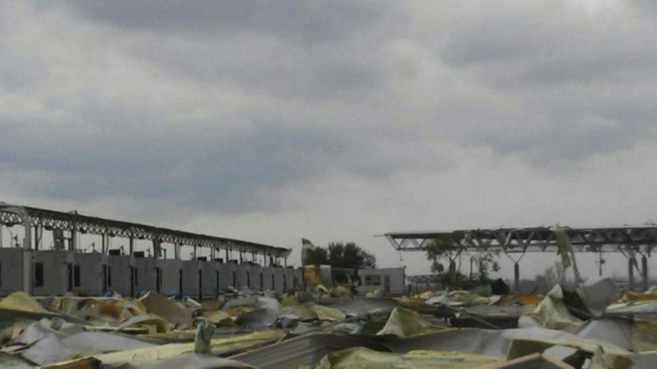 Puente internacional 3, devastado por tormenta