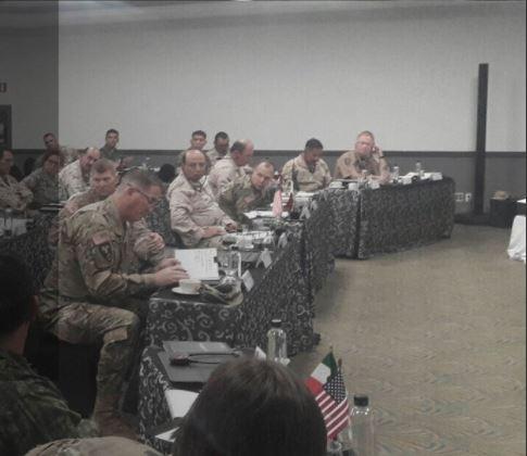 Militares se reunen para analizar la seguridad en la frontera