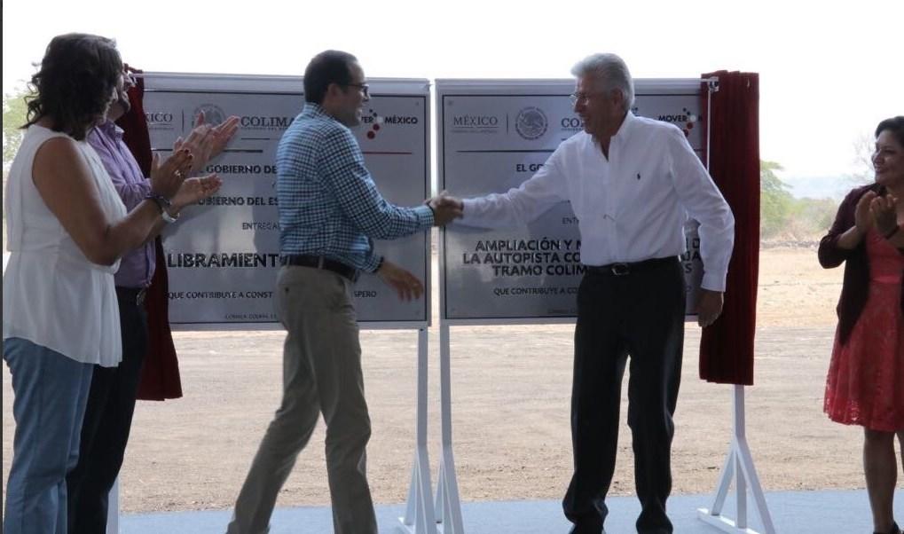 Inauguración del Libramiento de Comala y la modernización de Colima-Los Asmoles. (Twitter @gruizesp)