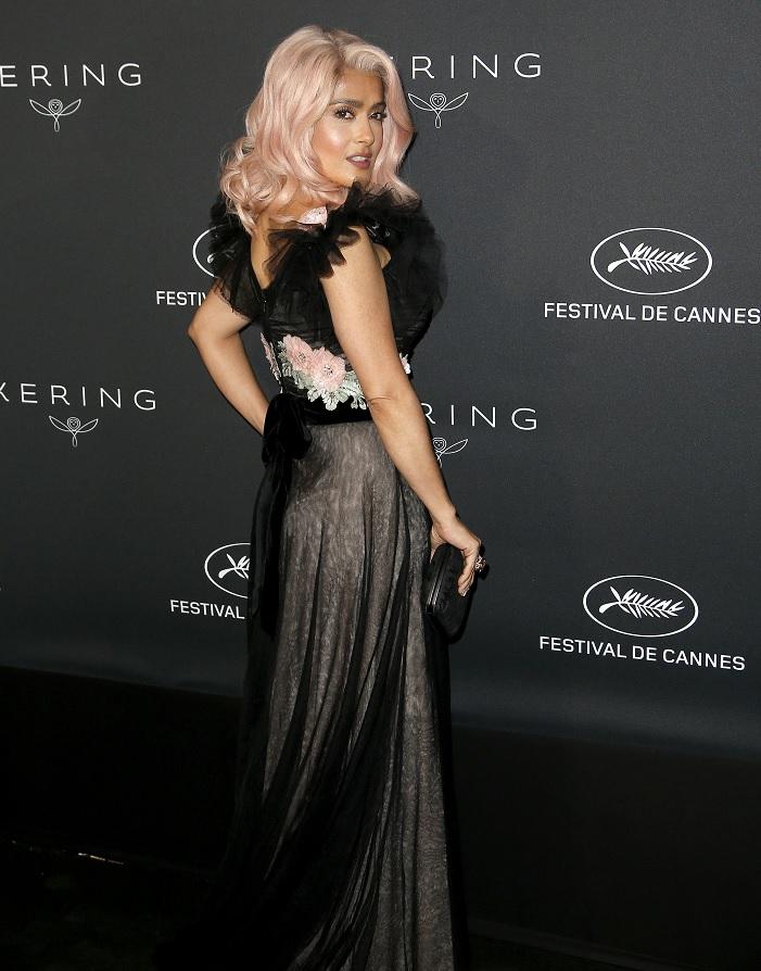 La actriz mexicana Salma Hayek en el 70 Festival de Cine de Cannes (EFE)